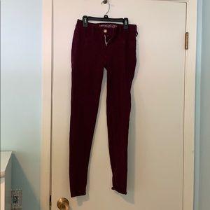 American Eagle Burgundy Jeans